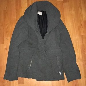 Loft size medium gray puffy jacket